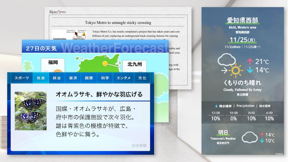 ニュース・天気予報の配信サービス